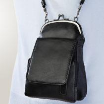 Blancheporte Kožená kabelka, čierna čierna