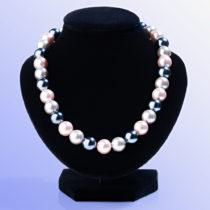 Blancheporte Náhrdelník zo sklenených perál, sivá/fialová