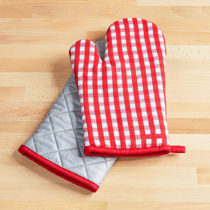 Blancheporte Kuchynská rukavica, červená-biela červená-biela