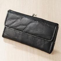 Blancheporte Patchworková peňaženka, čierna čierna