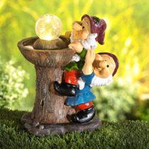 Blancheporte Solárna fontána s trpaslíkmi