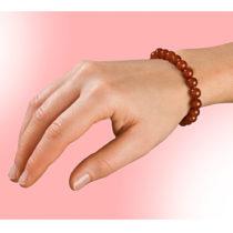 Blancheporte Achátový náramok, červená červená 17,6cm