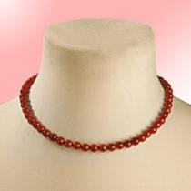 Blancheporte Achátový náhrdelník, červená červená 45cm