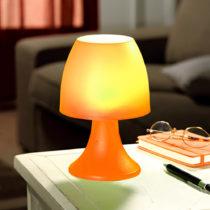 Blancheporte Stolná lampa na 6 LED diód, oranžová oranžová