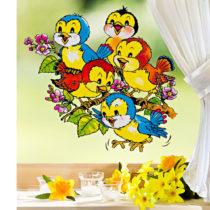 """Blancheporte Obrázok na okno """"Kŕdeľ vtáčikov"""""""