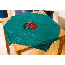 """Blancheporte Obrus """"Kvety"""", zelená tmavozelená 80x80cm"""
