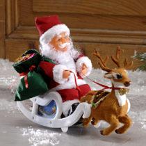 Blancheporte Santa Claus so saňami + hudba