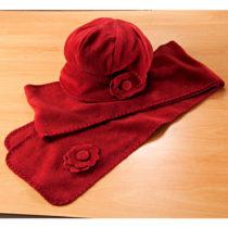 Blancheporte Fleecová čiapka, červená červená