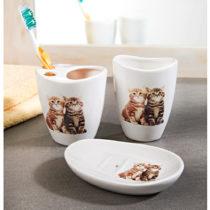 """Blancheporte 3-dielna kúpeľňová súprava """"Mačky"""""""