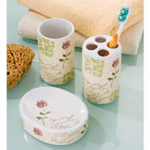 """Blancheporte 3-dielna kúpeľňová súprava """"Kvety"""""""