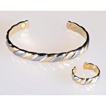 Blancheporte Magnetický prsteň zlatej a striebornej farby