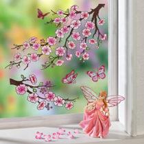 """Blancheporte Obrázok na okno """"Čerešňové kvety"""""""