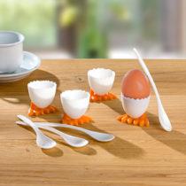 Blancheporte 4 kalíšky na vajíčka + 4 lyžičky na vajíčka