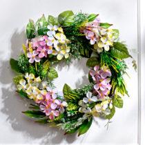 Blancheporte Veniec s hortenziami, ružová-biela ružová-biela