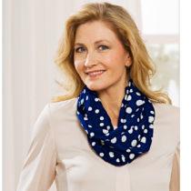 Blancheporte Okrúhl šatka s bodkami, modrá-biela modrá-biela