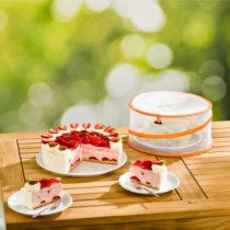 Blancheporte 2 ochranné poklopy na jedlo, žltá + oranžová žltá+oranžová