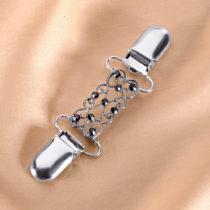 Blancheporte Ozdobná spona striebristá s čiernymi perličkami