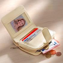 Blancheporte Patchworková peňaženka, biela-prírodná