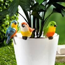"Blancheporte 3 ozdoby na kvetináč ""Vtáčiky"""