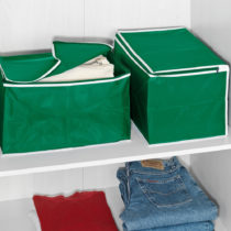 Blancheporte 2 úložné boxy, zelená zelená