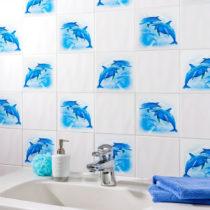"""Blancheporte 12 dekorácií na obklady """"Delfíny"""""""
