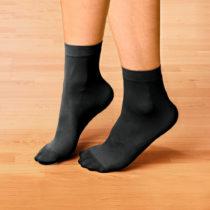 Blancheporte 5 diabetických ponožiek, čierna čierna