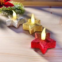 """Blancheporte 3 LED sviečky """"Hviezdy"""""""