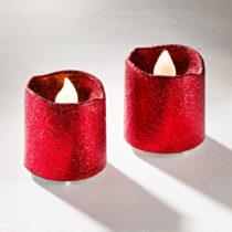 Blancheporte 2 LED sviečky, červená červená