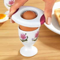 Blancheporte Oddeľovač vaječných škrupín, biela - červená biela-červená