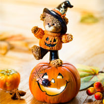 """Blancheporte Dekorácia na Halloween """"Tekvica s tancujúcim medvedíkom"""""""