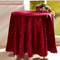 Blancheporte Kockovaný obrus, červená bordó pr.160 cm