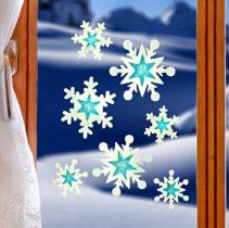 """Blancheporte Obrázok na okno """"Snehové vločky"""""""
