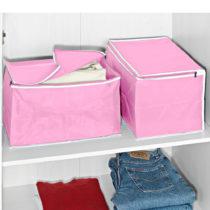 Blancheporte 2 úložné boxy, ružová ružová