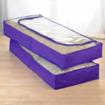Blancheporte 2 úložné vaky pod posteľ, lila lila