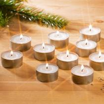 Blancheporte 10 čajových sviečok, biela biela