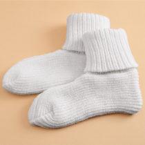 Blancheporte 1 pár termo ponožiek, biela biela