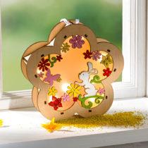 """Blancheporte LED drevená závesná dekorácia """"Vajce"""" Kvetina"""