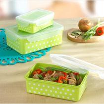 Blancheporte 12-dielna súprava dóz na uchovanie potravín, zelená-biela