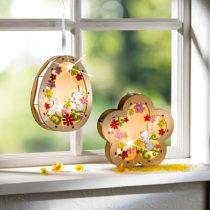 "Blancheporte LED drevená závesná dekorácia ""Vajce"" Vajce"