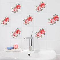 """Blancheporte 12 dekoračných nálepiek na obklady """"Ruže"""""""