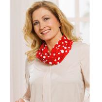 Blancheporte Okrúhl šatka s bodkami, modrá-biela červená-biela
