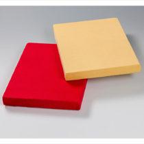 Blancheporte 2 napínacie posteľné plachty, červená červená 100x200cm