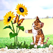 """Blancheporte Dekorácia """"Solárna kvetina s mačiatkom"""""""