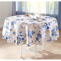 "Blancheporte Obrus ""Modré kvety"" pr. 140cm"