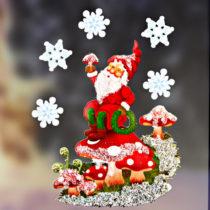 """Blancheporte Obrázok na okno """"Vianočný trpaslik"""""""