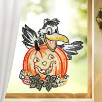"""Blancheporte Okenná dekorácia """"Havran s tekvicou"""""""