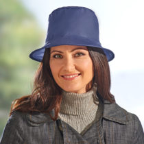 Blancheporte Skladací klobúk proti dažďu, modrá modrá