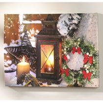 """Blancheporte LED obraz """"Vianočný lampáš"""""""