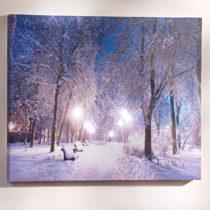 """Blancheporte LED obraz """"Zimná alej"""""""