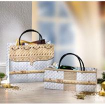 Blancheporte 2 darčekové tašky, zlatá farba